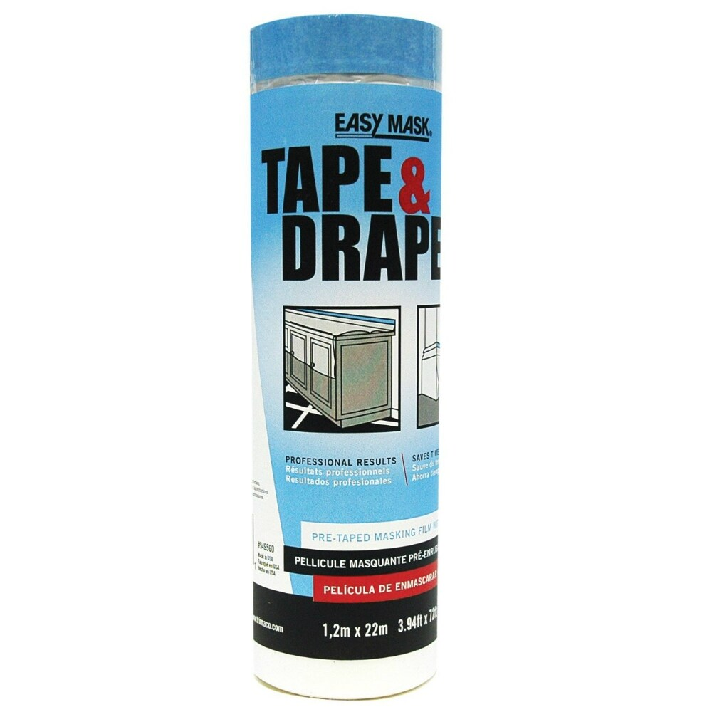 Trimaco 949560 Easy Mask Pre-Taped Drop Cloth, 47.2 x 75