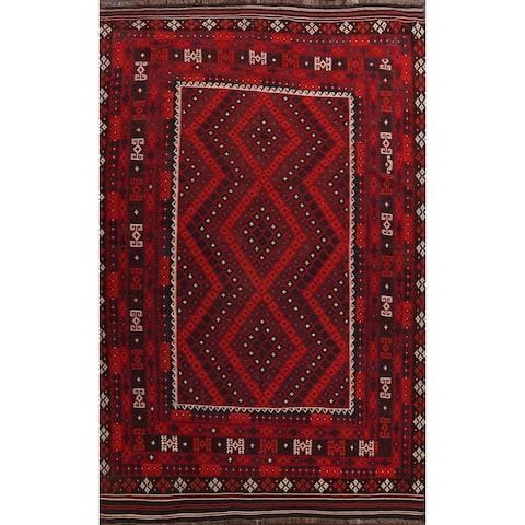 "Geometric Kilim Oriental Area Rug Wool Hand-woven Living Room Carpet - 10'0"" x 13'2"""
