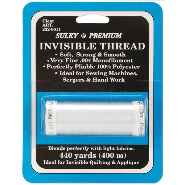 Sulky Premium Invisible Thread 440yd-Clear - CLEAR