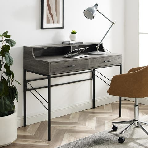Carson Carrington 44-inch 2-Drawer Desk and Hutch