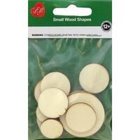 Assorted Wood Shapes-Circles 12/Pkg