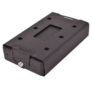 Costway Hand Gun Pistol Handgun Safe Lock Box Cash Jewelry Security - Black