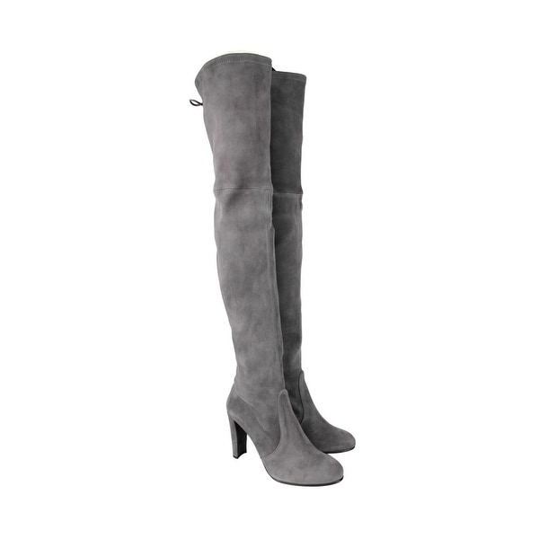 Highland Slate Suede Over-the-knee Boot