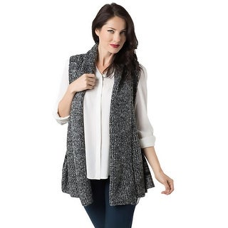 Look Womens Cardigan Sweater Sleeveless Open Front - o/s