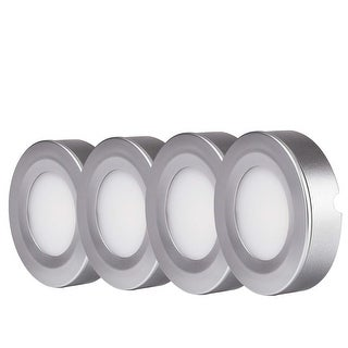 LED Under Cabinet Lighting Kit, 2W LED Puck Lights, 3000K - 4pcs