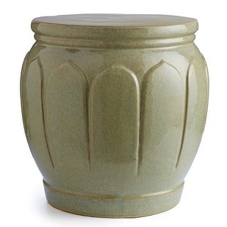 Napa Home and Garden SR230 San Gabriel 15 Inch Wide Ceramic Accent Stool - beige - N/A
