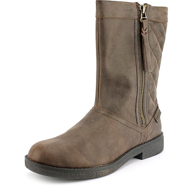 Rocket Dog Tipton Women Round Toe Synthetic Brown Mid Calf Boot
