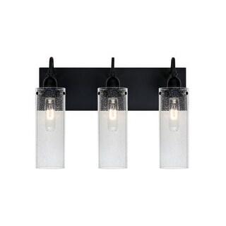 Besa Lighting 3WG-JUNI10CL Juni 3 Light Vanity Strip with Clear Bubbled Glass Shades