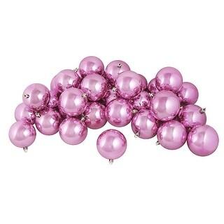 "12ct Shiny Bubblegum Pink Shatterproof Christmas Ball Ornaments 4"" (100mm)"