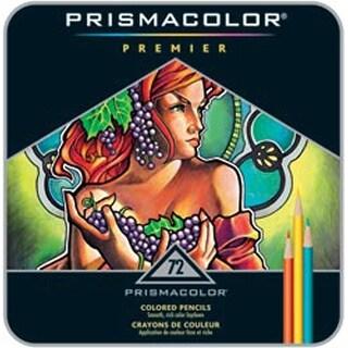 Prismacolor Premier Colored Pencil Set 72/Tin-W/Two Bonus Artstix