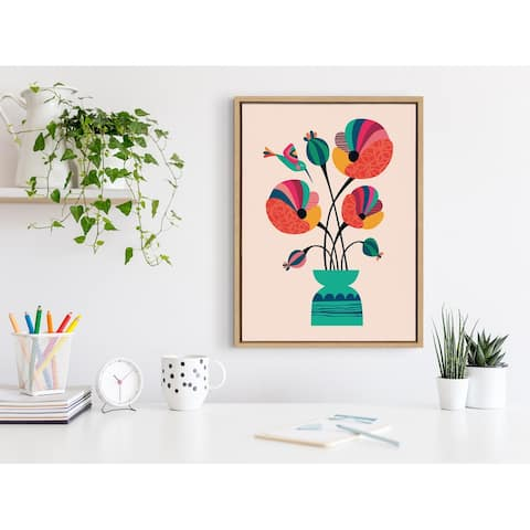 Kate and Laurel Sylvie Poppies Canvas by Rachel Lee of My Dream Wall