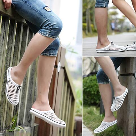 Women Men Summer Beach Mesh Hollow Slippers Travel Outdoor Couple Leisure Shoes