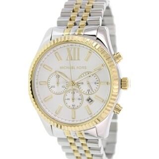Michael Kors Men's Lexington MK8344 Silver Stainless-Steel Quartz Fashion Watch