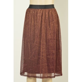NY Collection Sparkle A-line Midi Skirt