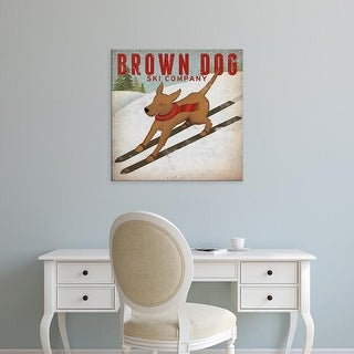 Easy Art Prints Ryan Fowler's 'Brown Dog Ski Co' Premium Canvas Art