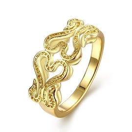 Gold Double Hollow Love Ring