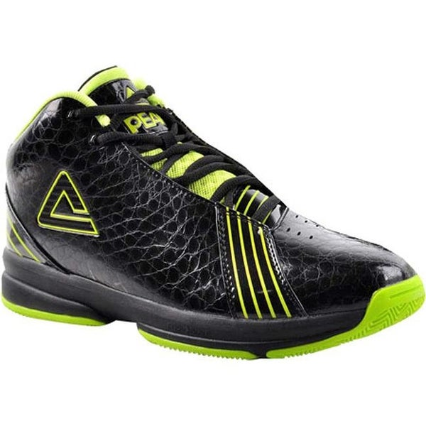 Shop Peak Men s E21071A Basketball Shoe Black Bright Green - Free ... 7938bcb7d3a