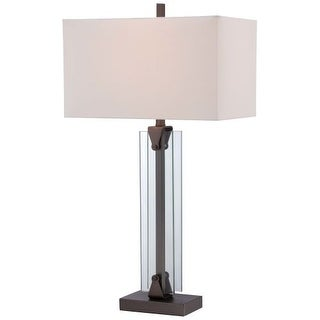 Kovacs P1608-281 1 Light Table Lamp in Harvard Court Bronze from the Portables Collection