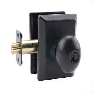 Miseno MHDW-AG100 Malaga Solid Brass Single Cylinder Entry Door Knob Set