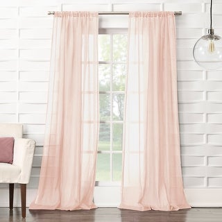 Link to No. 918 Ladonna Crushed Texture Semi-Sheer Rod Pocket Curtain Panel Similar Items in Window Treatments