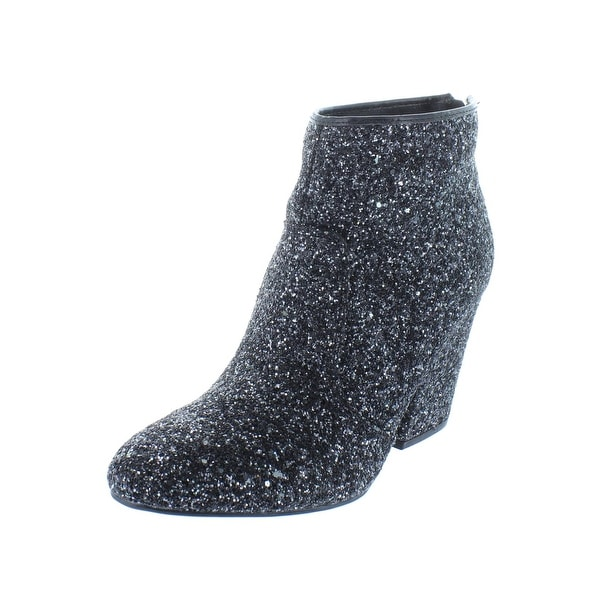 45ad850acfed Shop G by Guess Womens Nite3 Booties Glitter Textured Block Heels ...