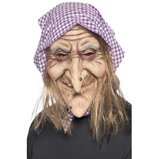 Smiffy Old Witch Mask - Solid