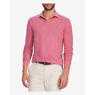 Polo Ralph Lauren Classic Fit Red Slate Long Sleeve Mesh Polo Shirt XX-Large