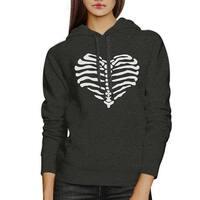 Skeleton Heart Unisex Graphic Hoodie Pullover Fleece For Halloween