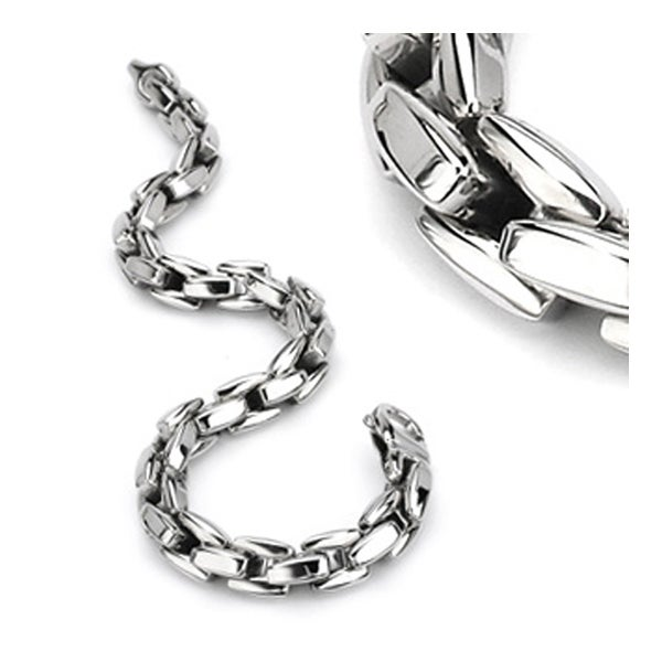Stainless Steel Bracelet - 8.75 Inches (9 mm) - 9 in