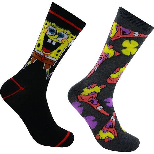 38afda48c6d0f Shop Spongebob Squarepants and Patrick Starr Casual Crew Socks