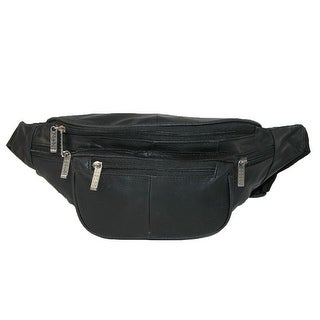 Leather Impressions Leather Extra Large Waist Pack with Nylon Strap - One size