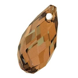 Swarovski Crystal, 6010 Briolette Pendants 13x6.5mm 2 Pieces, Crystal Bronze Shade