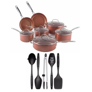 Nuwave 12 pc. Duralon Ceramic Cookware set with 5 pc. Gadget Set