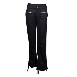INC International Concepts Women's Cropped Utility Pants - Deep Black