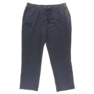 Karen Scott Womens Plus Casual Pants Solid Flat