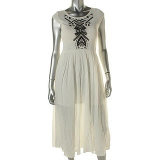 Free People Womens Full-Length Cut-Out Casual Dress