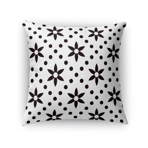 Kavka Designs black/ white black flowers with white Dots accent pillow with insert