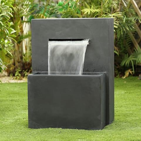 Cement Modern Rectangular Outdoor Fountain