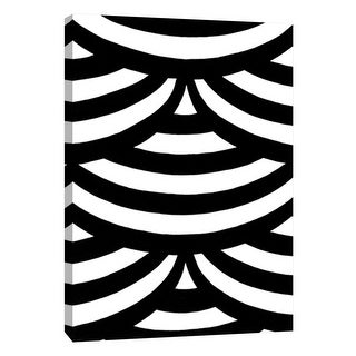 """PTM Images 9-105676  PTM Canvas Collection 10"""" x 8"""" - """"Monochrome Patterns 2"""" Giclee Abstract Art Print on Canvas"""