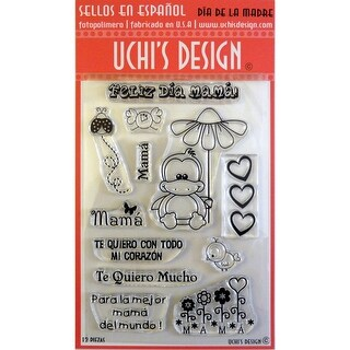 """Uchi's Design Spanish Clear Stamps 4""""X6""""-Dia De La Madre (Mother's Day)"""