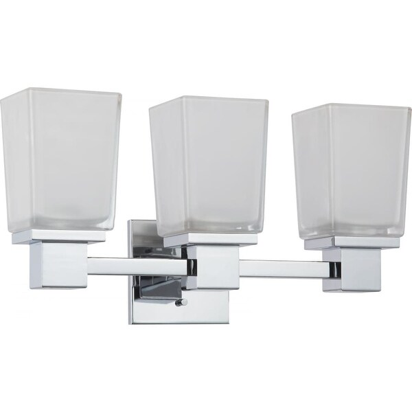 "Nuvo Lighting 60/4003 Parker 18-3/4"" Reversible 3 Light Bathroom Vanity Light - Polished chrome"