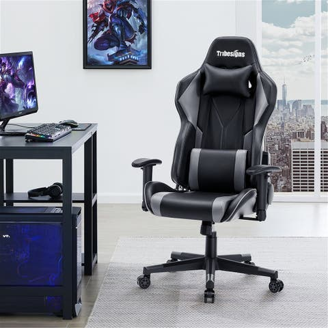 Ergonomic Office Chair with Massage,Racing Style Gaming Chair