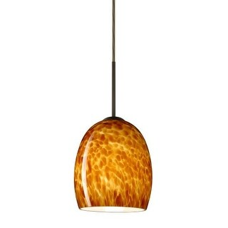 Besa Lighting 1JT-169718 Lucia 1 Light Cord-Hung Mini Pendant with Amber Cloud Glass Shade