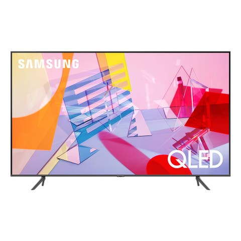 "Samsung QN55Q60TA 55"" QLED 4K UHD Smart TV - Steel"