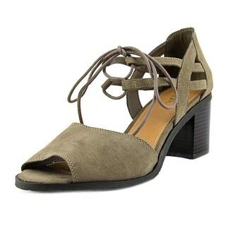Mia Luella Women Open Toe Canvas Brown Sandals