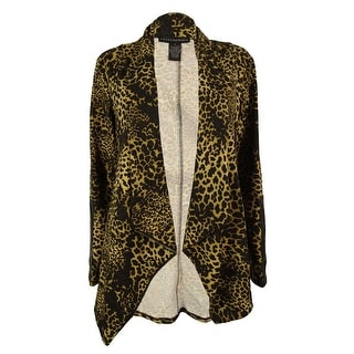Grace Elements Women's Animal Print Faux-Leather Trim Jacket