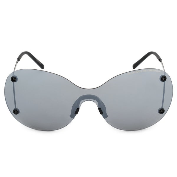 f690d2079160 Shop Porsche Design Rounded Shield Sunglasses P8621 C 01 - Free Shipping  Today - Overstock - 27983910