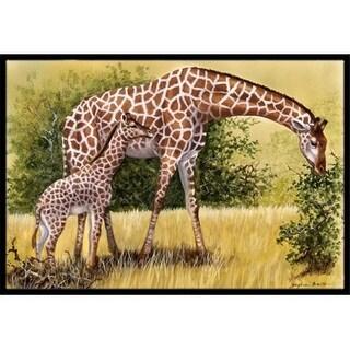 Carolines Treasures BDBA0309JMAT Giraffes by Daphne Baxter Indoor or Outdoor Mat 24 x 36