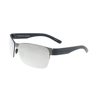Porsche P8582-A Gunmetal Rectangle Sunglasses - 64-12-135