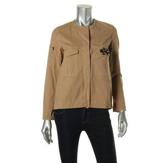Zara Basic Womens Embellished Non-Vented Jacket